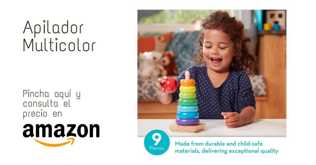 Juguete Montessori Apilador Multicolor