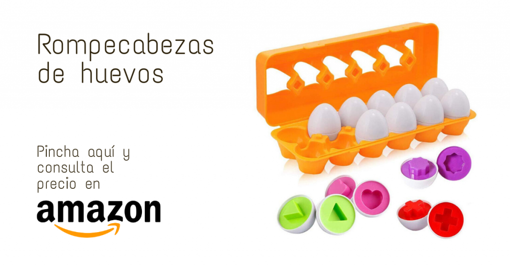 Juguete Montessori rompecabezas huevo