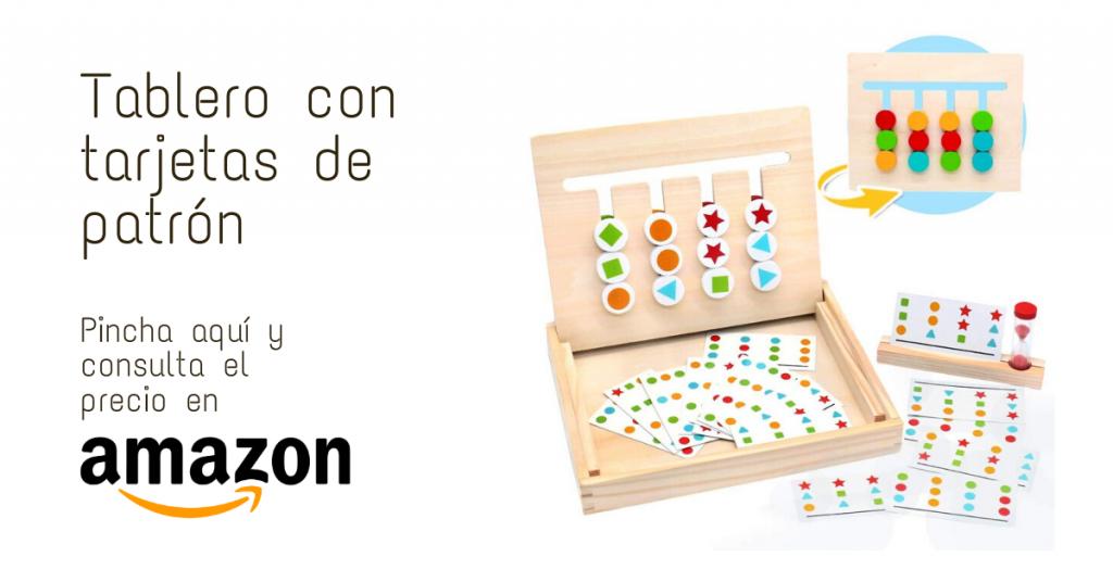 Juguete Montessori  Tablero con tarjetas de patrón