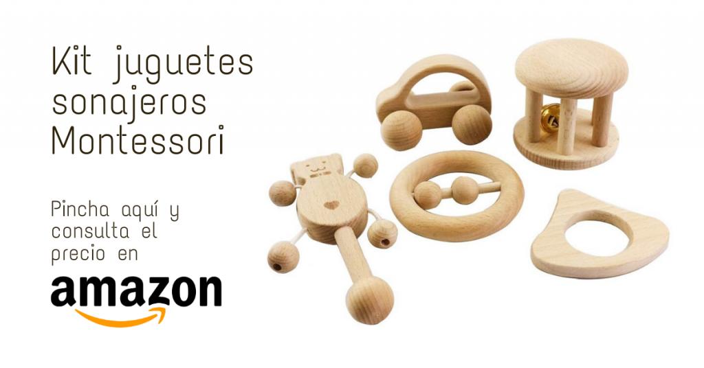 Kit juguetes sonajeros Montessori