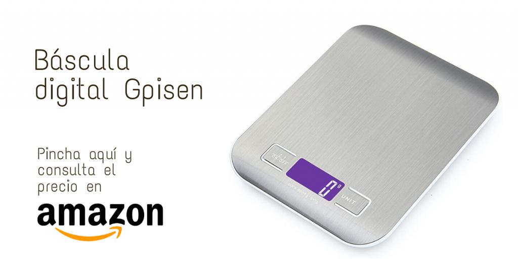bascula digital para cocina Gpisen